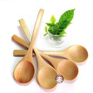 【易奇寶】韓國實木勺 攪拌匙 荼葉匙 咖啡豆匙 二入