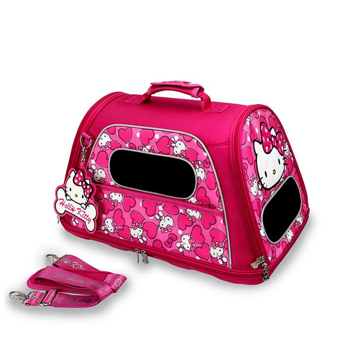 Hello Kitty凱蒂貓正版授權凡爾賽寵物側背箱外出籠粉YV8887快樂生活網