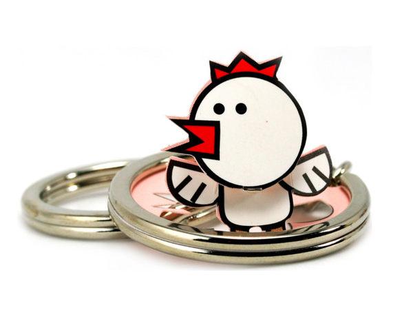 ☆猴子設計☆小雞立體鑰匙圈