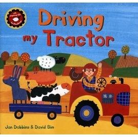 麥克書店DRIVING MY TRACTOR英文繪本附VCD主題:顏色動物交通工作農作物