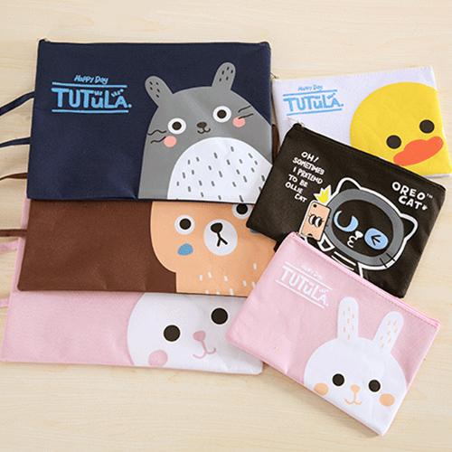 文件袋可愛動物圖案拉鏈手提文件袋收納袋YL0280 BOBI 06 01