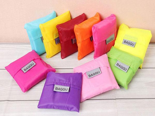 時尚折疊購物袋彩色尼龍可折疊背心環保袋購物袋旅行整理手提SV6135 BO雜貨