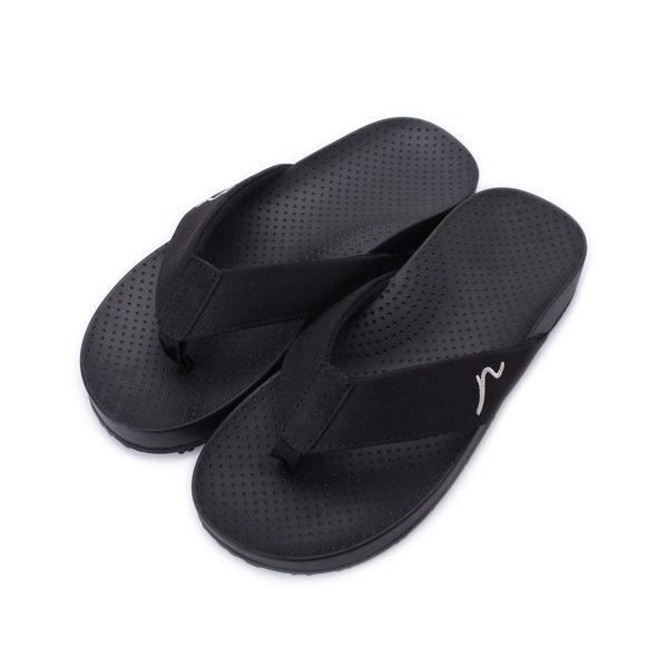 KANGOL 夾腳記憶拖鞋 黑 6851220220 男鞋 鞋全家福
