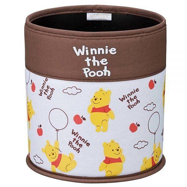 車之嚴選 cars_go 汽車用品【PH-158】日本 NAPOLEX Disney Pooh 小熊維尼 圓型垃圾桶
