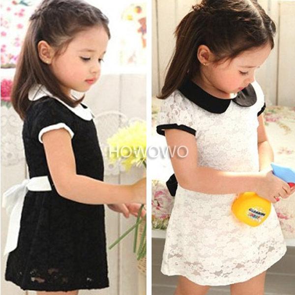 短袖洋裝蕾絲連衣裙小禮服AL2281好娃娃