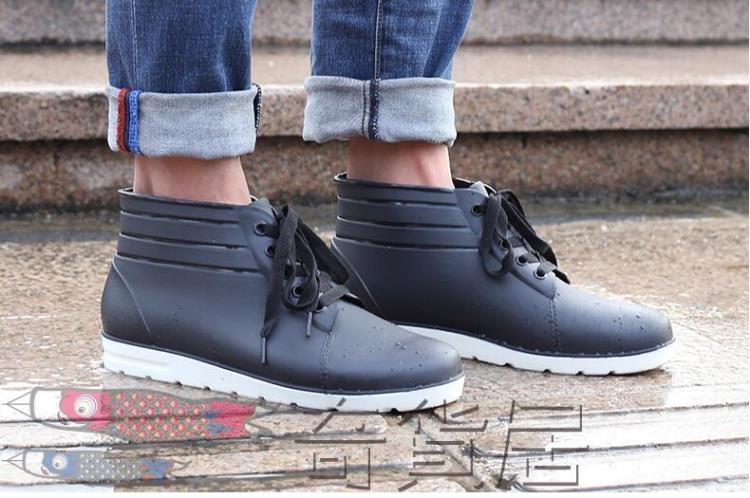雨鞋男雨靴低筒防水鞋防滑中筒膠鞋