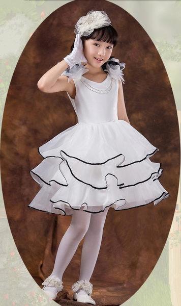俏魔女美人館出租禮服女童花童兒童婚紗禮服公主裙大童婚紗裙蓬蓬裙白色禮服裙秋裝
