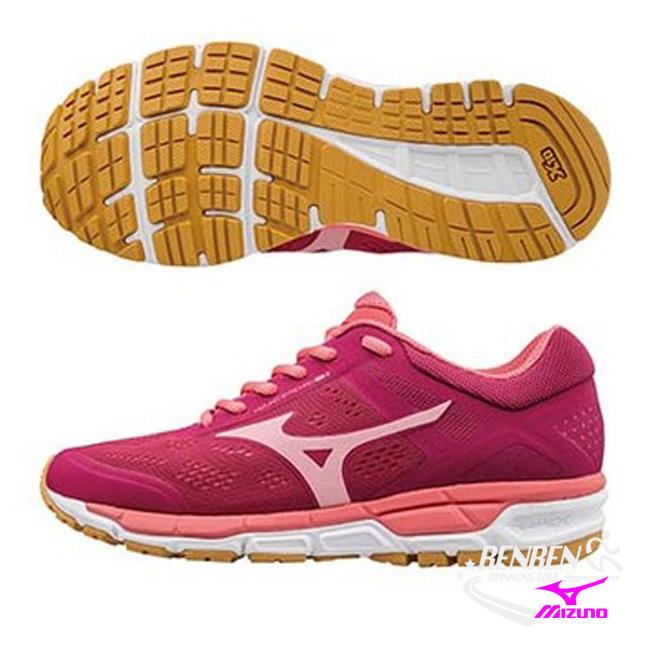 美津濃 MIZUNO 女慢跑鞋 (深紅X粉紅) SYNCHRO MX 2 休閒慢跑鞋款 J1GF171967【 胖媛的店 】