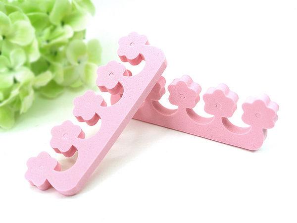 可愛粉紅小花-分隔棉分指棉分趾棉一對-指甲上色必備甜心美甲材料批發網