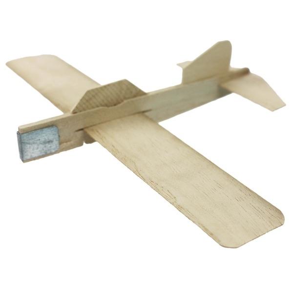 木板彈射飛機 木板飛機 DIY木板模型飛機 彩繪飛機 空白飛機  促[#30]【袋50個入】