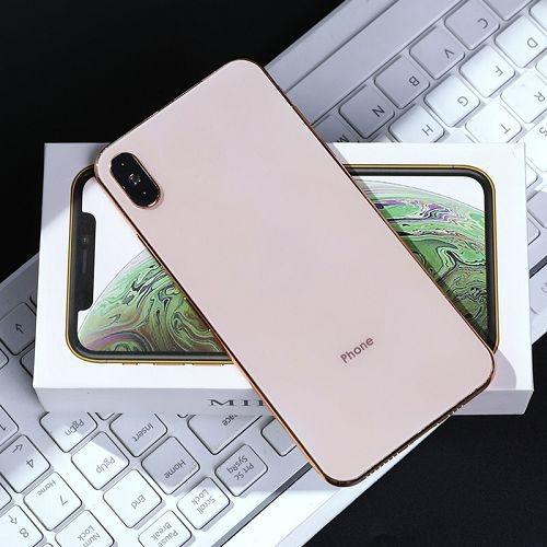 蘋果XS手機仿真隨身鏡 創意隨身便攜化妝鏡 公主鏡
