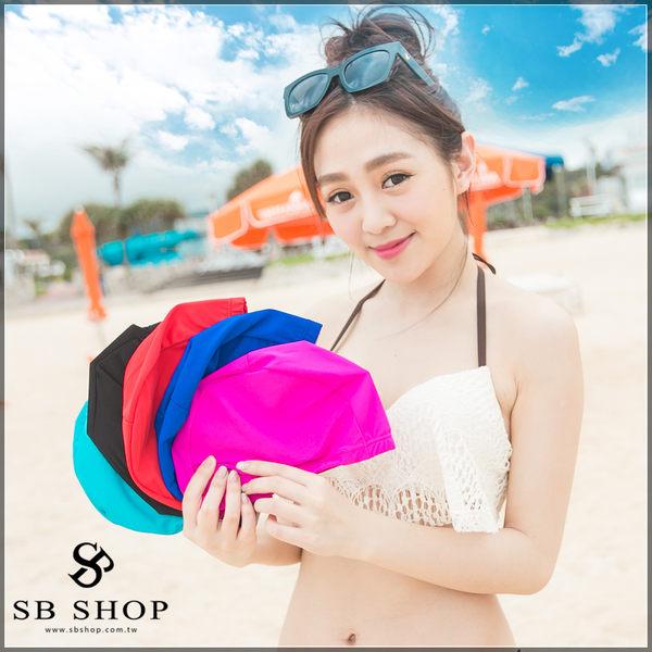 SB SHOP【黑色泳帽 t27】玩水必備 比基尼 泳裝泳衣 游泳泡湯皆可使用