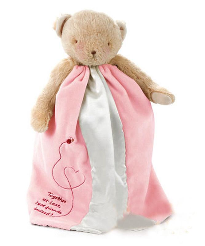 美國安撫玩偶巾:粉紅小熊:W424119