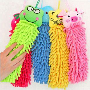 擦手巾長毛纖維卡通擦手巾創意可掛面巾ZE2056好娃娃