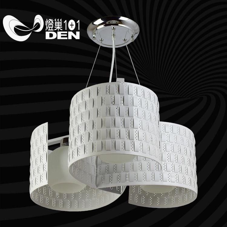 北歐極簡風格白色風向球金屬3燈吊燈燈巢1 1燈具燈飾Led居家照明桌立燈02035904