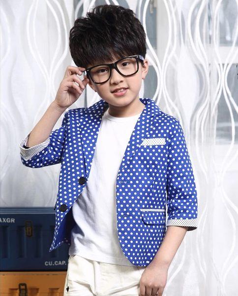 ♥ 俏魔女美人館 ♥  男孩兒童小西裝童裝男童秋裝2014新款潮裝韩版七分袖西服外套