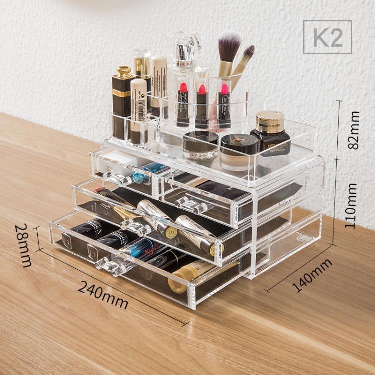 化妝品收納盒桌面整理盒TW元氣少女