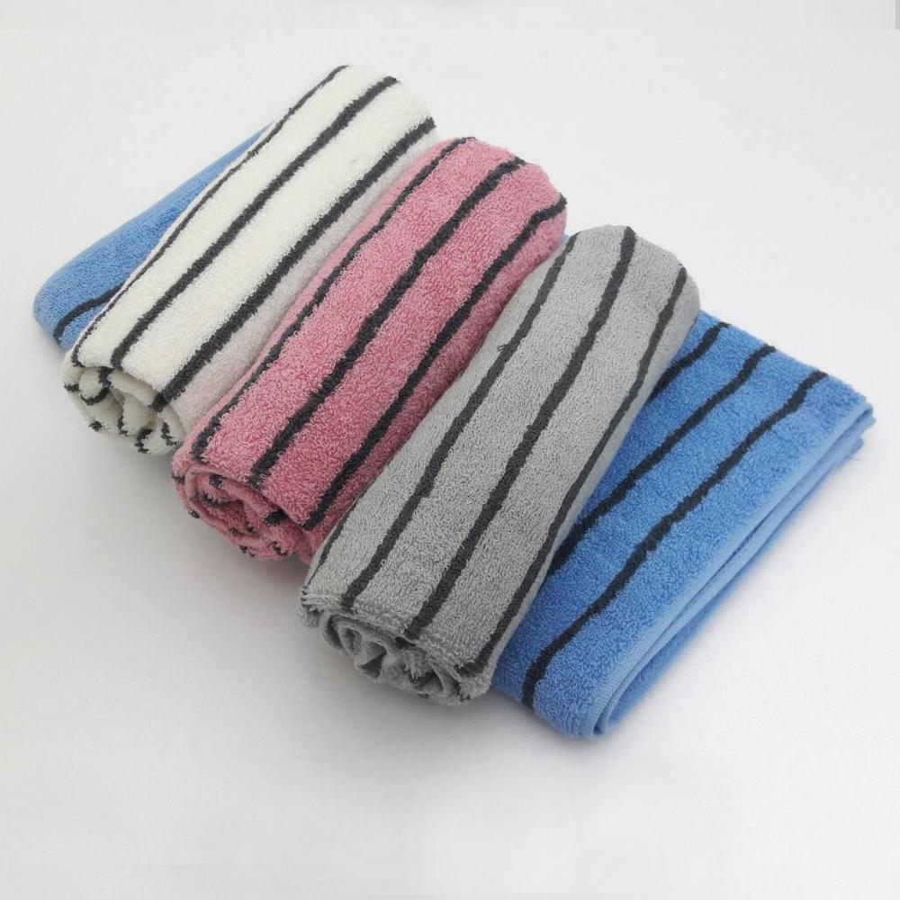 【MORINO】美國棉色紗彩條方巾