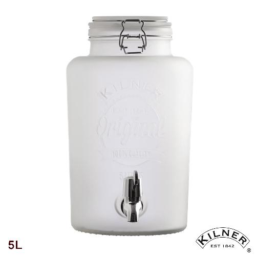 【KILNER】優雅白派對野餐飲料桶 5L