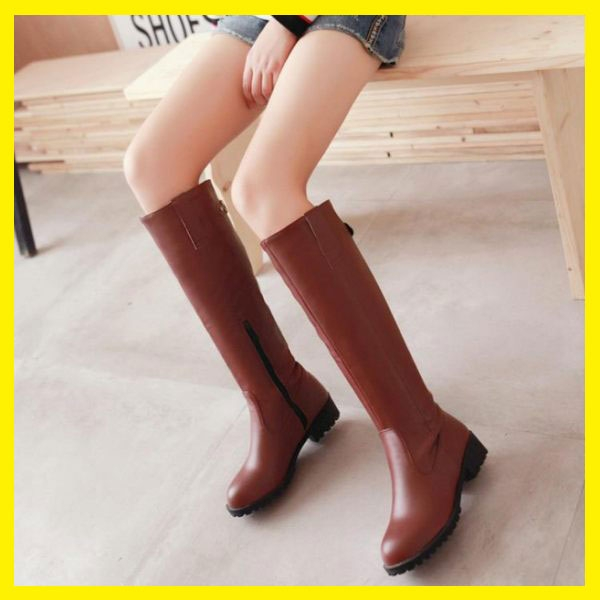 長靴女靴高筒靴側拉鏈