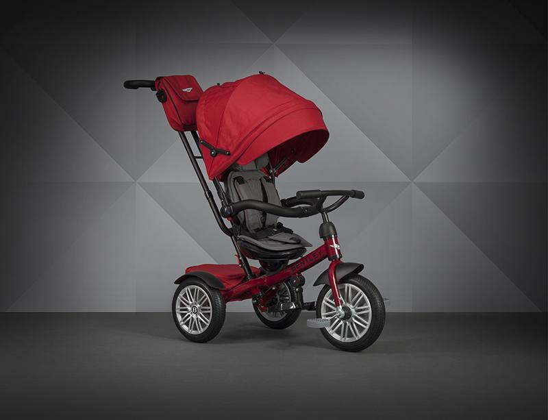 【愛吾兒】Bentley 賓利 三輪嬰幼兒手推車-紅色 原廠授權 Bentley Tricycle