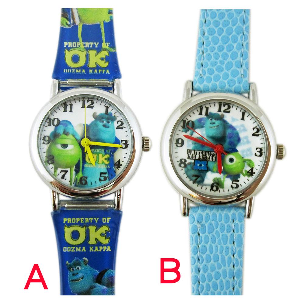 卡漫城怪獸大學手錶2選1版皮革錶帶Sulley毛怪大眼仔怪獸電力公司女錶卡通錶兒童錶