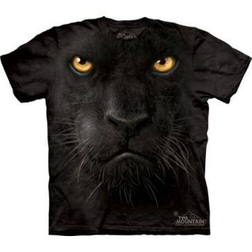 【摩達客】(預購) 美國進口【The Mountain】自然純棉系列 黑豹臉 設計T恤(10411045048a)