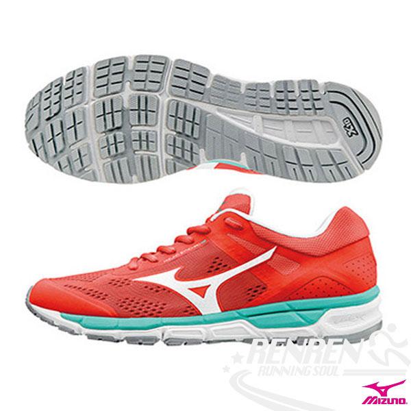 MIZUNO 美津濃  MIZUNO SYNCHRO MX 2 (W)  女慢跑鞋 (橘紅X銀白) 翁滋蔓代言款