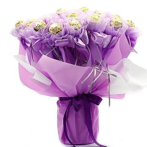 幸福婚禮小物經典浪漫金莎巧克力組二次進場送客禮金莎花棒情人節活動