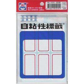 華麗牌 WL-1015(紅框)自粘性標籤(25x53mm) 90張/包