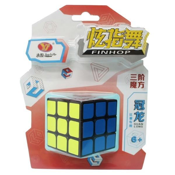 魔術方塊 炫指舞 3x3 冠龍魔術方塊(黑底)/一個入{定100} 比賽級魔術方塊5.7cm X 5.7cm 鑫~永駿YJ9601A