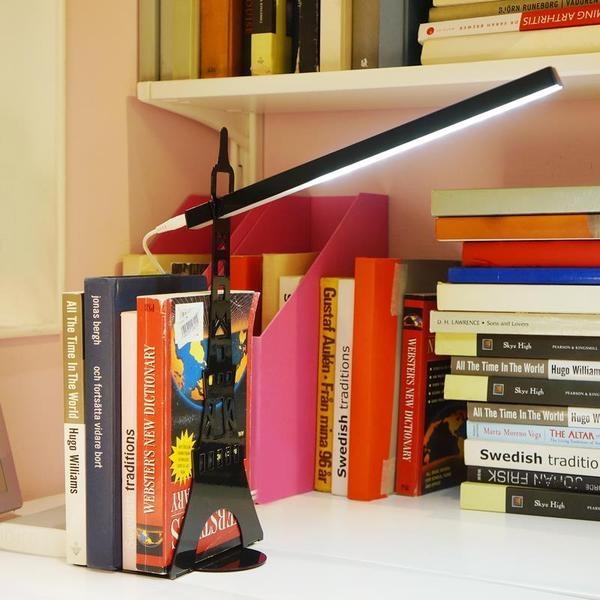 ♚MY COLOR♚巴黎鐵塔護眼檯燈 LED 宿舍 USB 充電 觸控 閱讀 書架 桌燈 學生 小夜燈 防滑【P22】
