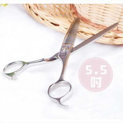 美髮沙龍專用E6028豹牌打薄剪刀5.5吋-單支47161