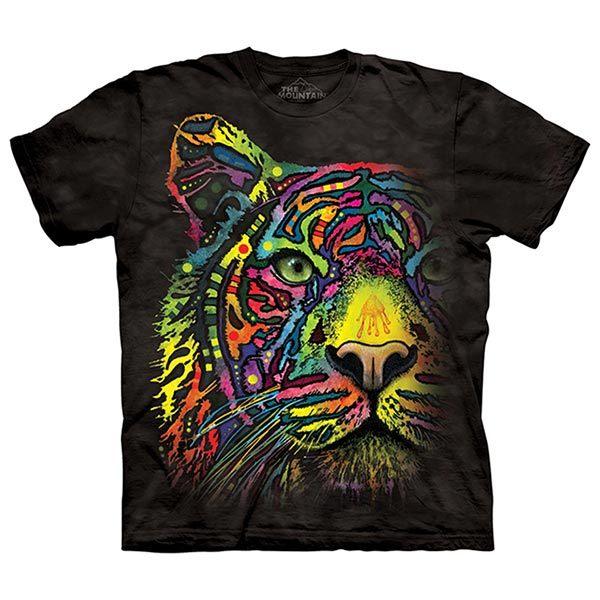 摩達客預購美國進口The Mountain彩繪彩虹虎純棉環保短袖T恤10415045205