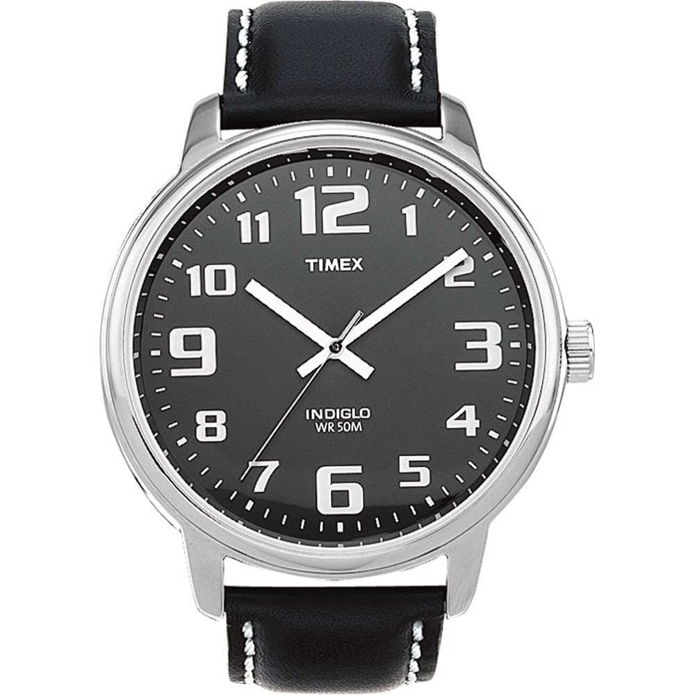 【TIMEX】EASY READER系列 清晰時刻復古時尚腕錶(黑 TXT28071)