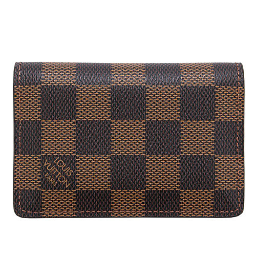 茱麗葉精品全新精品Louis Vuitton LV N63145棋盤格紋信用卡簡便短夾預購