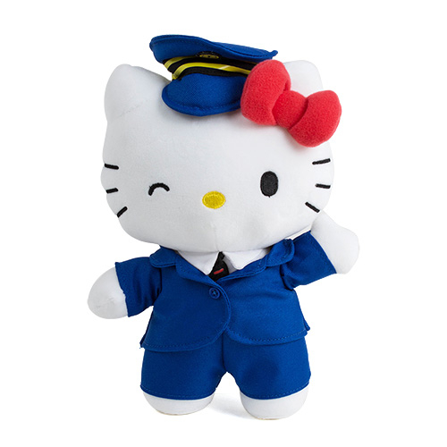《Sanrio》HELLO KITTY*台鐵太魯閣號-8吋站長絨毛娃娃★funbox生活用品★_RD00360