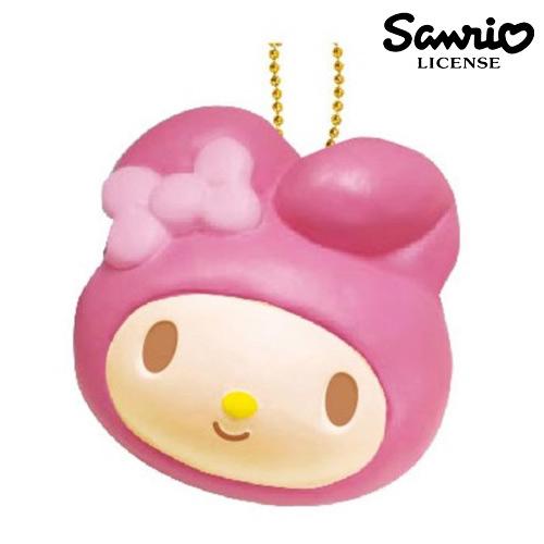 日本進口正版美樂蒂My Melody草莓款麵包捏捏吊飾捏捏樂美食軟軟三麗鷗615107