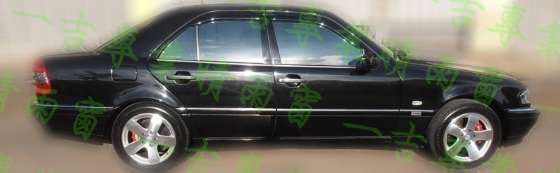 一吉93-00年賓士W202舊C系列鍍鉻飾條款原廠型晴雨窗外銷日本W202晴雨窗W202晴雨窗