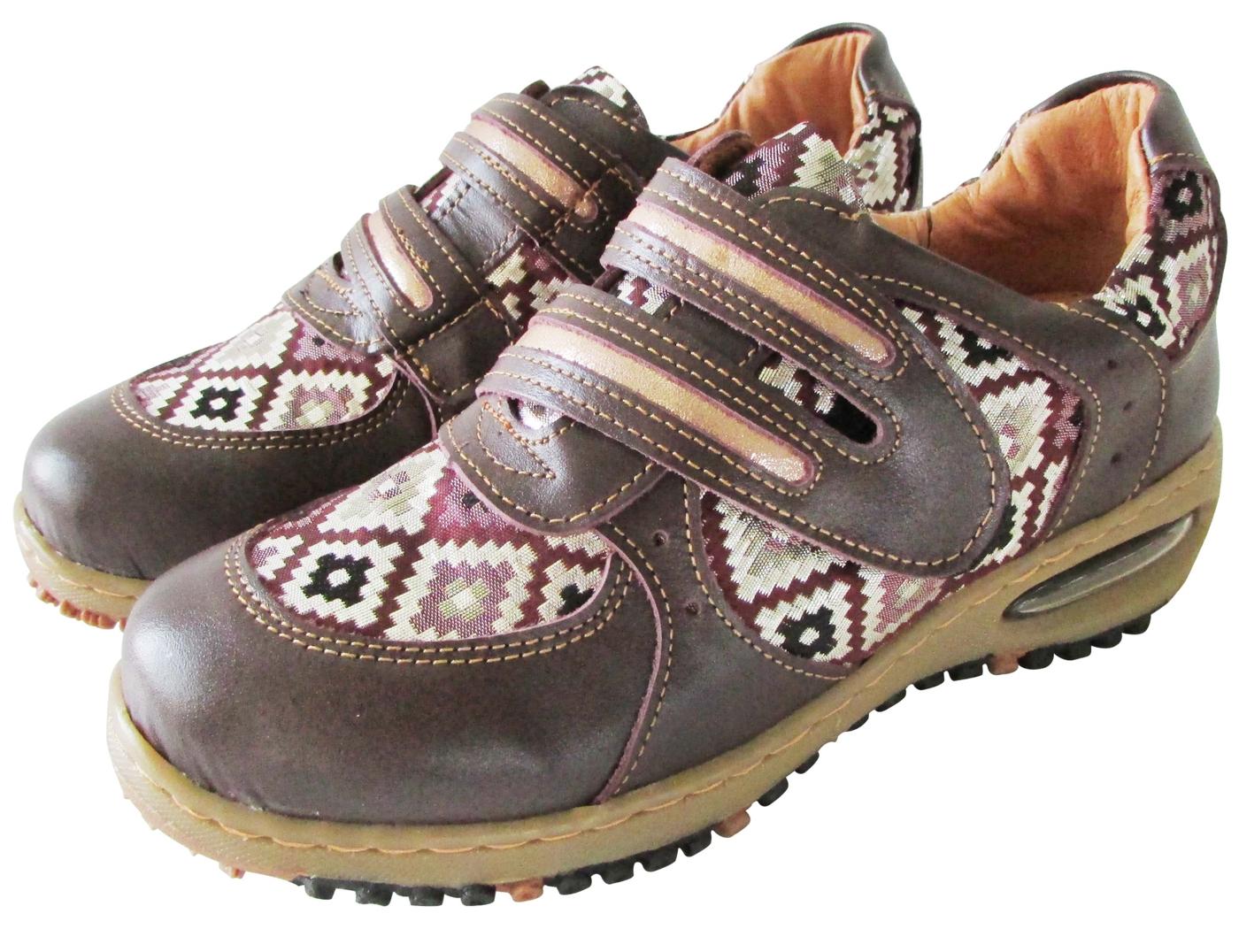 雙惠鞋櫃路豹Zobr民族風拼貼女牛皮休閒鞋台灣製造BB5706紫咖格