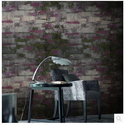 復古燙金水泥磚紋個性磚塊牆紙客廳餐廳酒吧咖啡廳壁紙