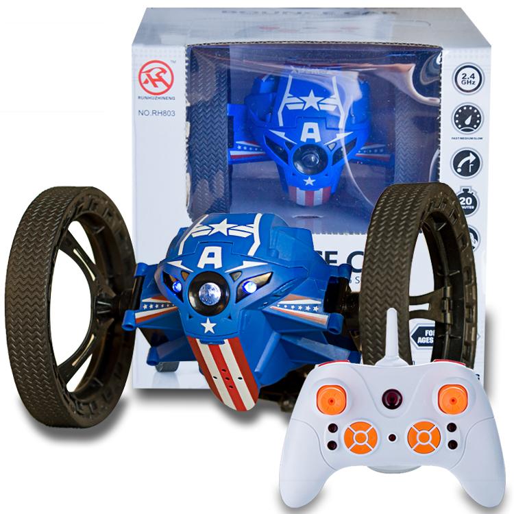 升級版智能遙控彈跳車賽車翻轉特技車機器人兒童戶外玩具越野車後街五號igo