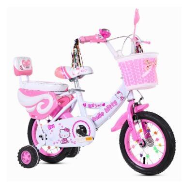 kitty兒童自行車12 14 16 18 20寸寶寶腳踏車潮咖範兒