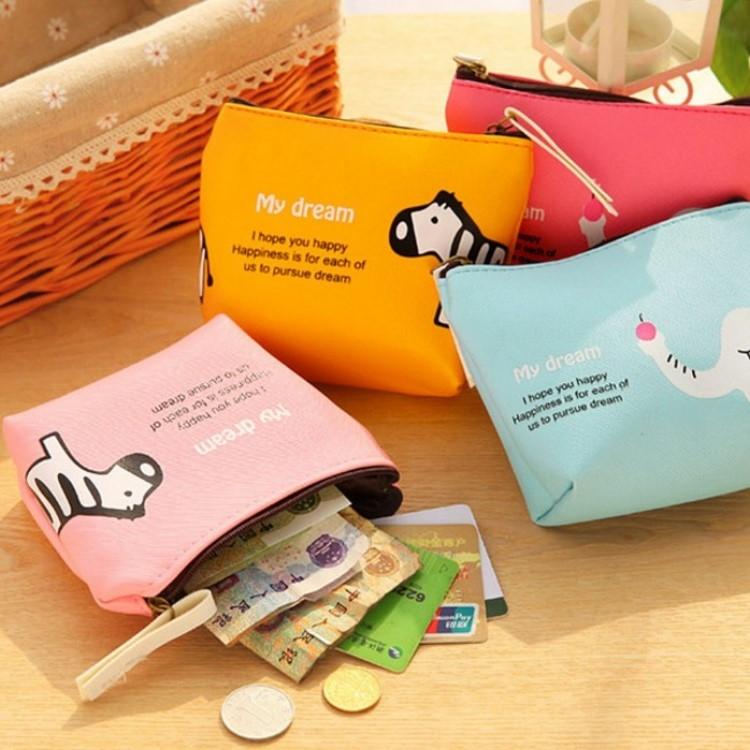 包包【HPN018】迷你Q可愛零錢包  防水 隨身包 購物包 零錢包 手提包 化妝包-收納女王