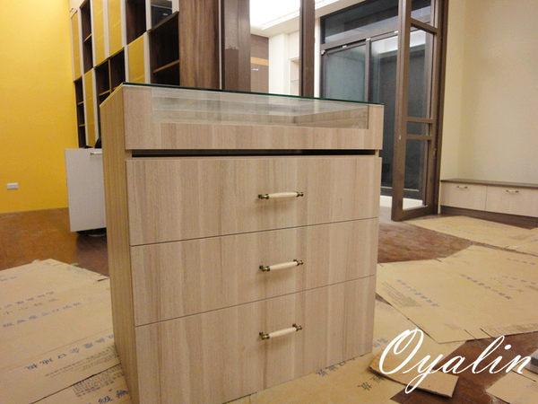 歐雅系統家具EGGER E1V313塑合板三節式滾珠抽屜更衣室中島系統櫃系統櫃工廠