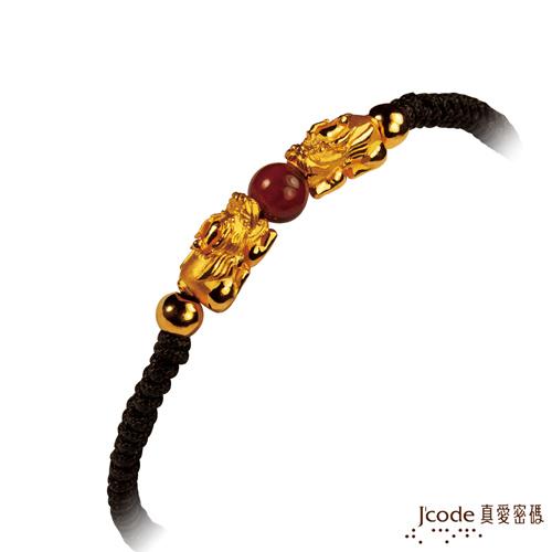 J code真愛密碼-咬錢貔貅黃金手鍊-小黑