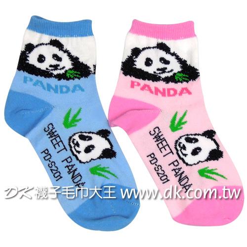 貓熊熊貓童襪PD-S201~DK襪子毛巾大王