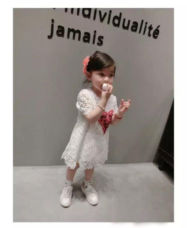 女童短袖洋裝蕾絲連身裙小禮服寶寶童裝MS38308好娃娃