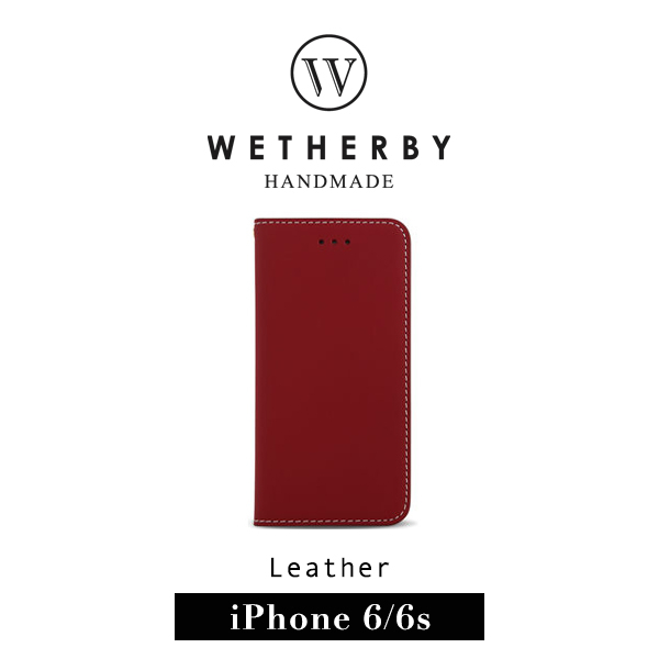 G2 STORE WETHERBY CLASSIC BASIC iPhone 6 4.7吋手工製作真皮保護套皮套酒紅色