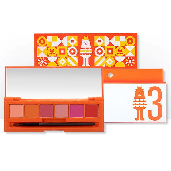 韓國Aritaum 6色腮紅唇彩盤13g兩用附刷Sticky Monster Lab聯名限量款歐妮小舖